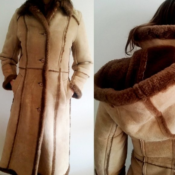 1970's Sheepskin Coat with Detachable Hood